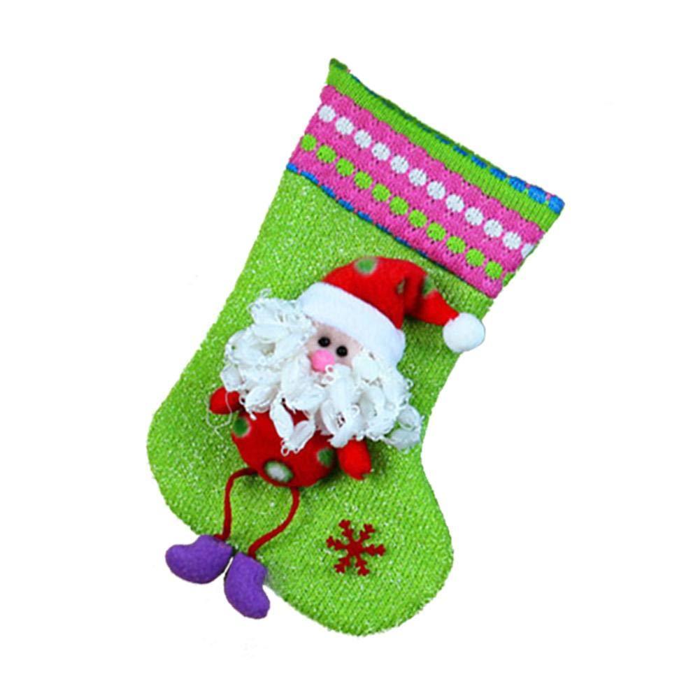 Bulary Medias y Calcetines de Navidad Calcetines Ornamento del árbol de Navidad Botas Santa Claus Nochebuena Calcetines Colgantes Decoración navideña: ...
