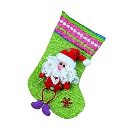 Là Vestmon Calcetines calcetines de navidad calcetines calcetines de navidad decoración (viejo hombre, muñeco