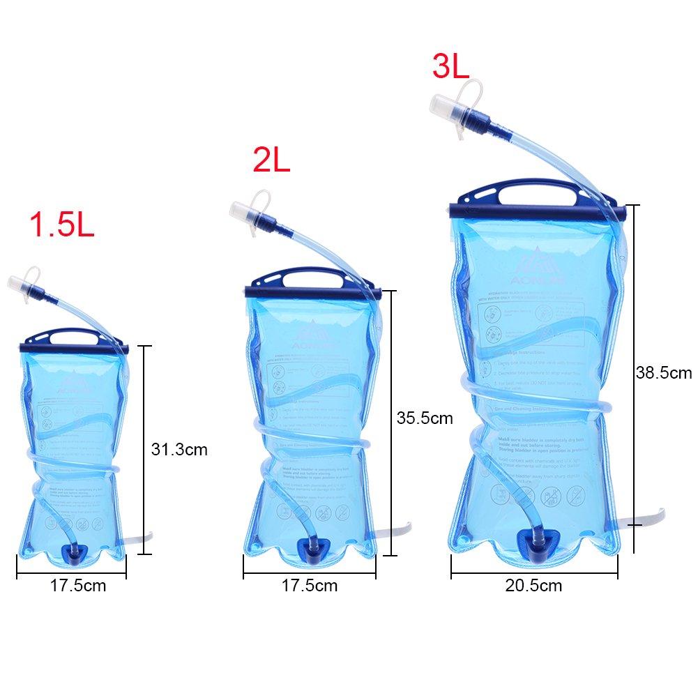 a Prueba de Fugas para Camping 1,5 l Alomejor Bolsa de Agua Plegable 2 l Senderismo 3 l Bolsa de Almacenamiento de Agua Port/átil Ligera