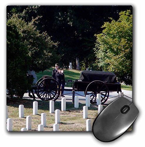3dRose LLC 8 x 8 x 0.25 Inches The Arlington Cemetery with a Funeral Procession and Military Men with Casket Pattern Mouse Pad (mp_48291_1)