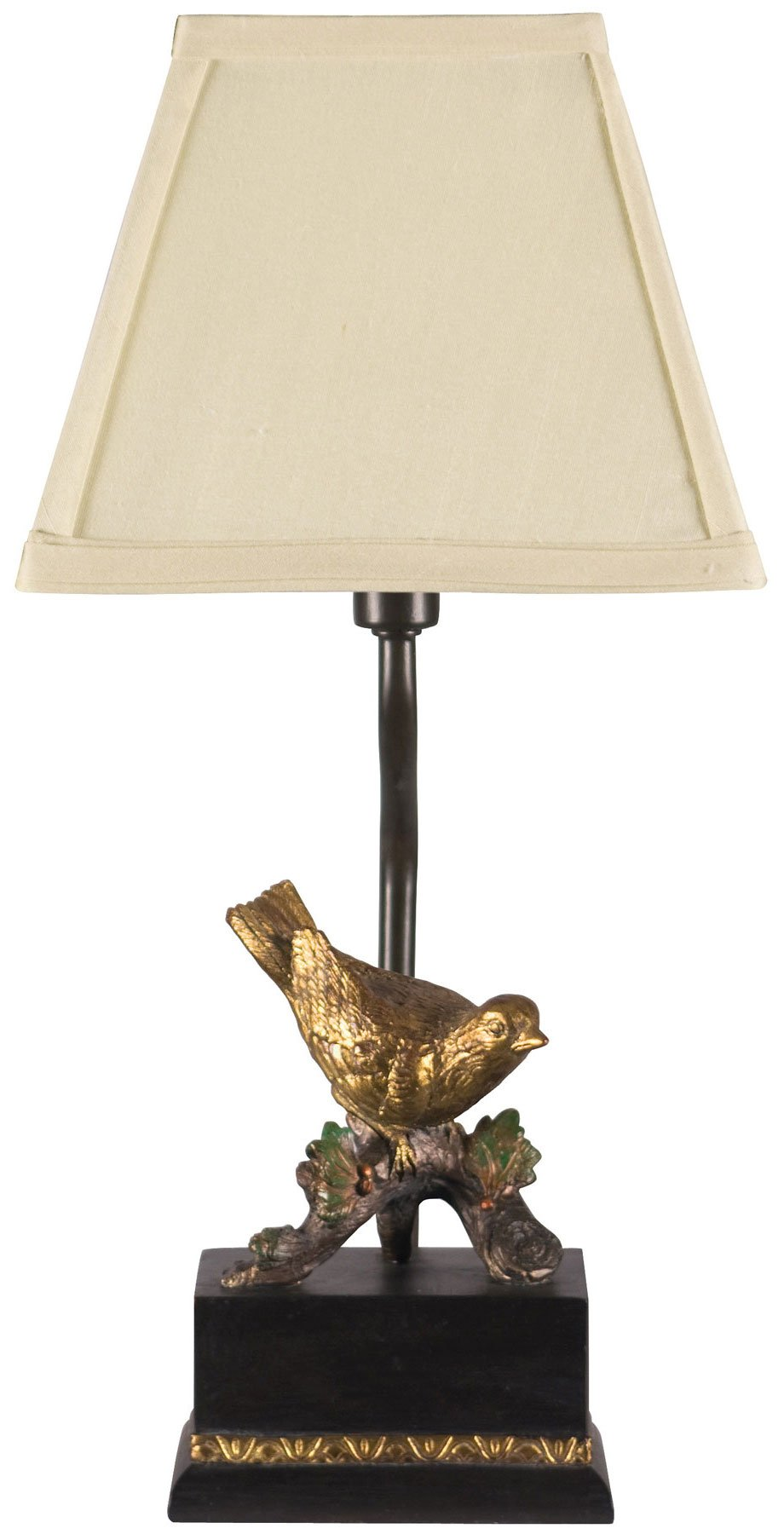 Dimond Lighting 93-938 Perching Robin 1-Light Candlestick Traditional Table Lamp, 7'' x 15'', Clear