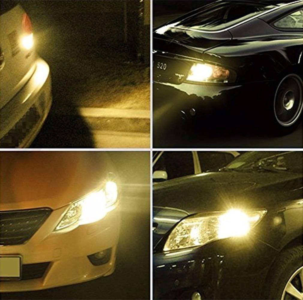 JKLcom 1156 BA15S LED Bulbs 12V 1156 LED Bulbs Warm White 1156 BA15S 7506 1003 1141 18-5050 SMD LED Bulbs for Car Turn Signal Lights Interior Brake Backup Light Lamp,10 Pack
