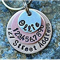 Layered Dog Tag Street Address included