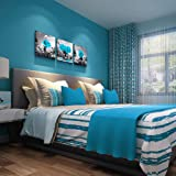 Canvas Wall Art for Bedroom Black and white Blue