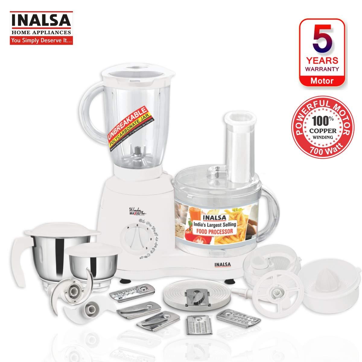 Inalsa Food Processor Wonder Maxie Plus V2 700-Watt