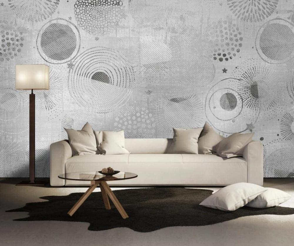 3d Wallpaper Tv Wall Decor Stickerr Black And White Texture Geometric Round Minimalism Modern Wall Paper Wall Stickers For Bedroom Decor Amazon Com