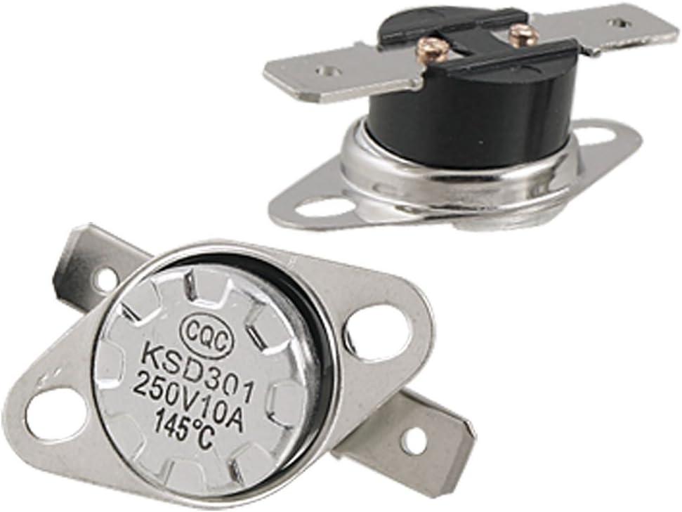 2 pi/èces 80 Celsius 250V AC 10A normalement ferm/é Interrupteur Thermostat KSD301