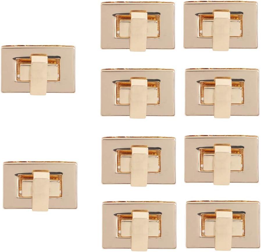 Silver TOPTIE 10 Sets Purse Clutches Closures Rectangle Twist Turn Lock for DIY Handbag