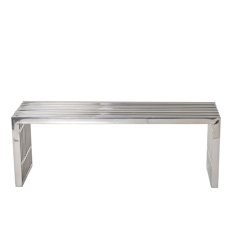 Amazon.com: Modway Medium Gridiron Stainless Steel Bench: Kitchen ...