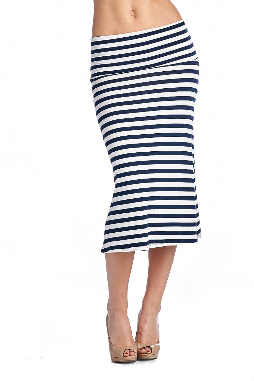 82 Days Women'S Rayon Span Various Print Mid-Calf Maxi Skirt - Print