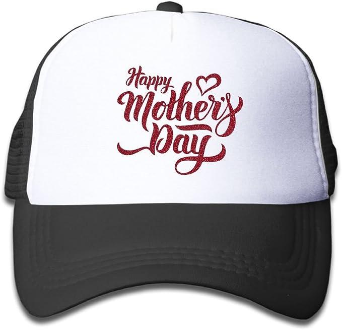 Happy Mothers Day Mesh Baseball Cap Girl Adjustable Trucker Hat Sky Blue