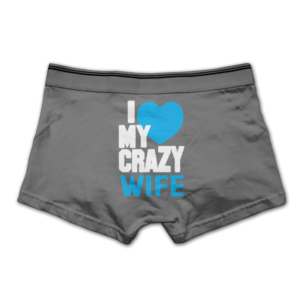 Mens I Love My Crazy Wife Couple Underwear Boxer Briefs
