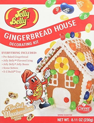 Jelly Belly Miniature Gingerbread Christmas House Holiday Decorating Kit