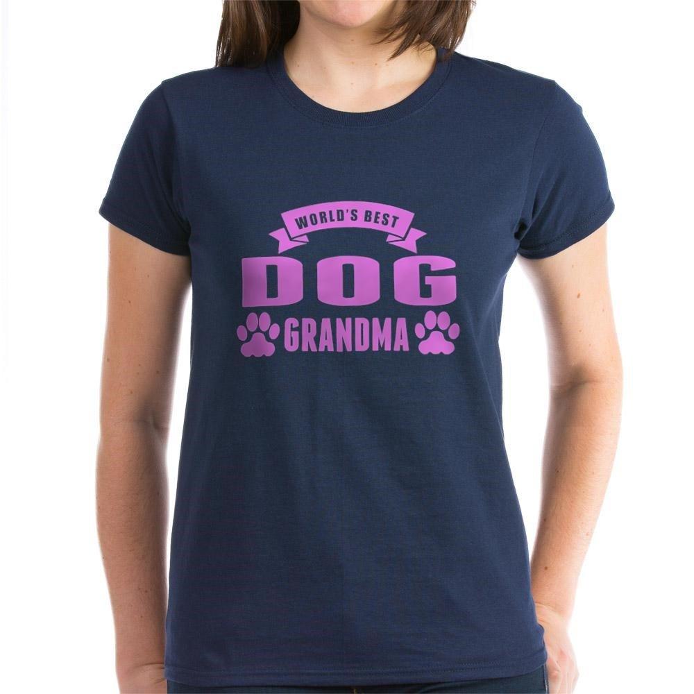 Worlds Best Dog Grandma T-Shirt CafePress Womens Cotton T-Shirt