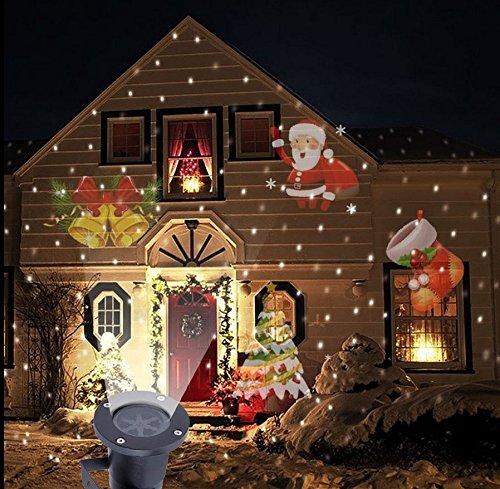 SmartHitech Luz de Proyector LED de Navidad, 4 Modos Iluminación ...