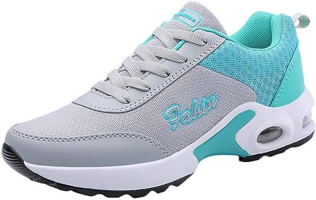 Sylar Zapatillas De Running para Mujer Simple Nuevo Malla Transpirable Suelas Blandas Cojín De Aire Cómodo Zapatillas De Cordones Zapatillas Casuales: Amazon.es: Zapatos y complementos