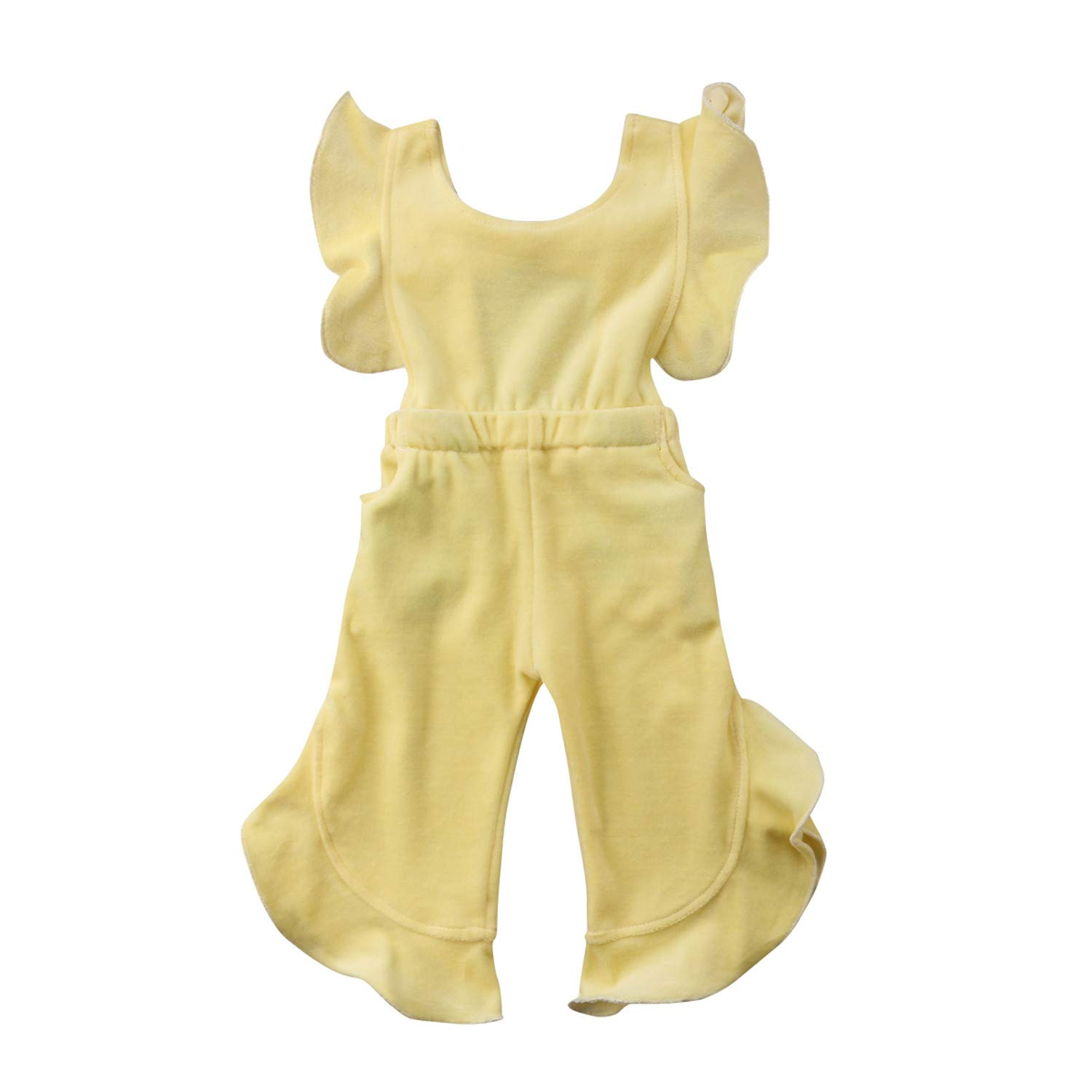 Evan Fordd Toddler Kid Baby Girl Clothes Korean Velvet Romper Jumpsuit Ruffled Overall