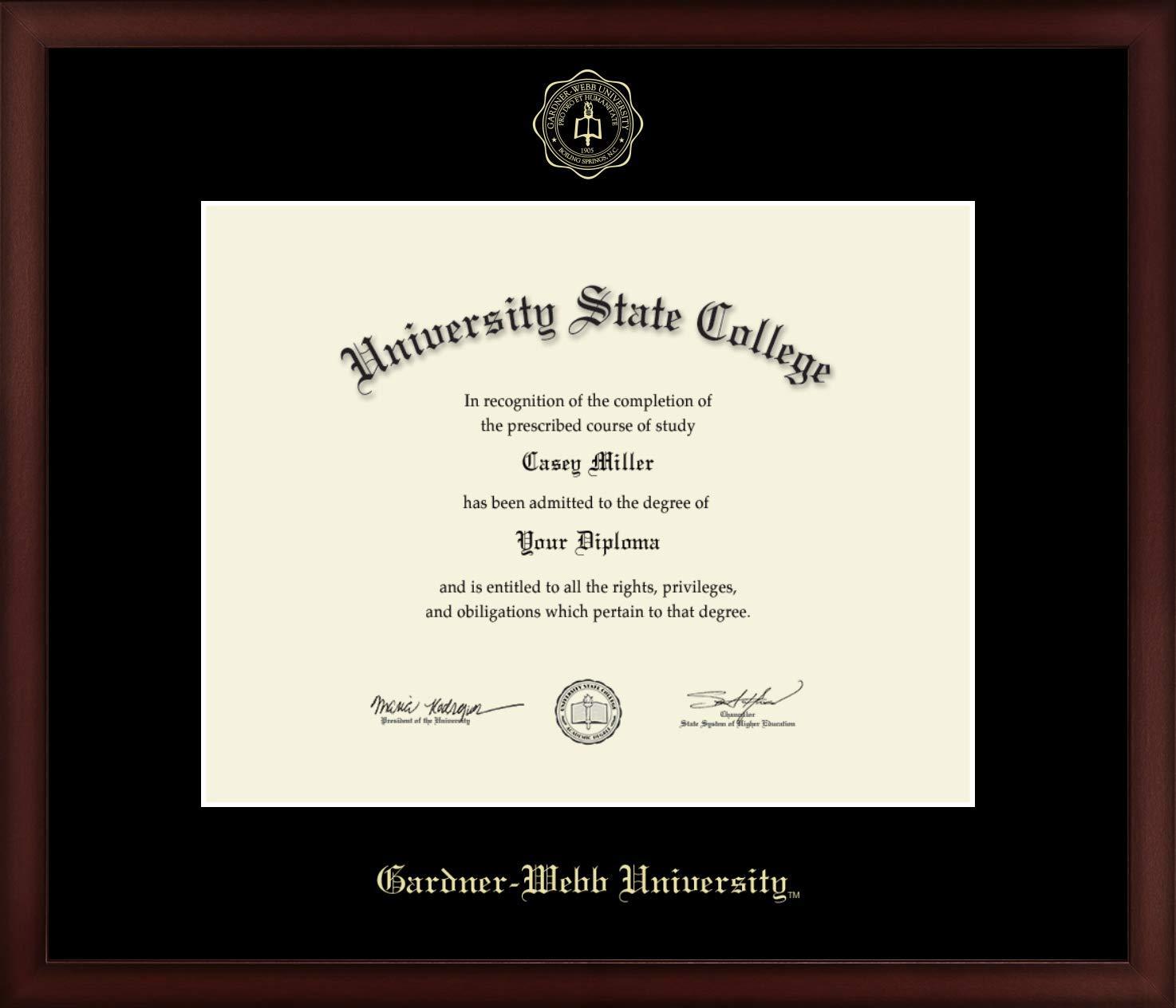 Gardner-Webb University - Officially Licensed - Gold Embossed Diploma Frame - Diploma Size 14'' x 11''