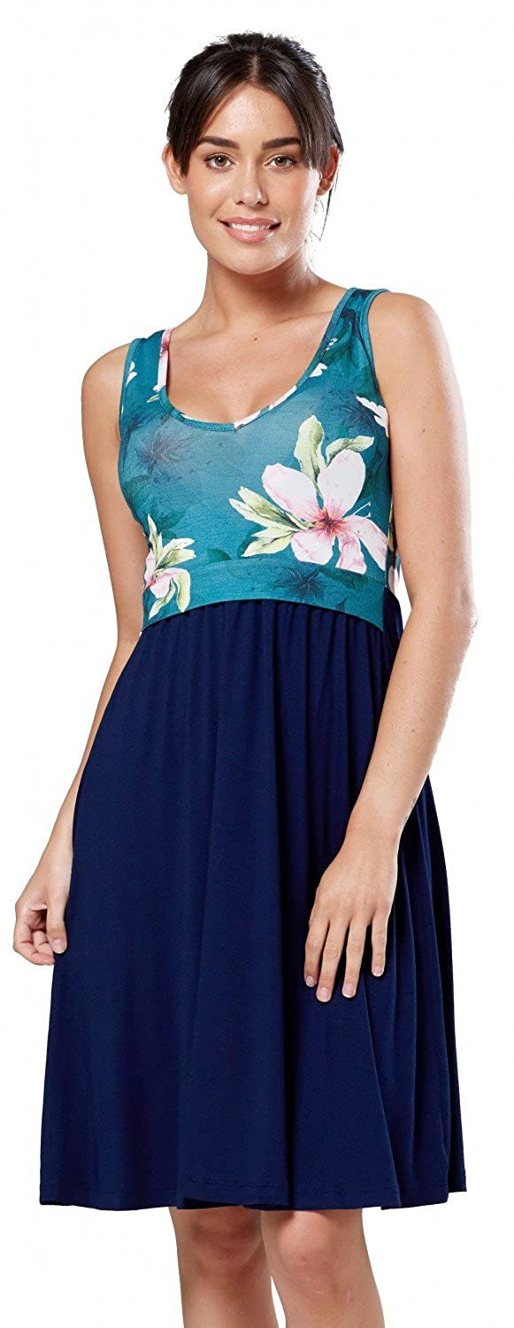 Zeta Ville Fashion DRESS レディース B07DTJGD8B 6/8|Teal and Flowers Teal and Flowers 43624