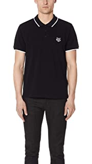 632deb372 Kenzo Men's White Tiger Head Polo Shirt With Black Tipped: Amazon.co ...
