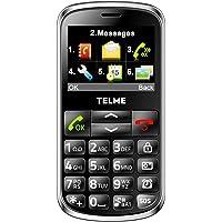"""Telme C155 - Móvil libre (pantalla de 2,3"""" 240 x 320, teclado QWERTY), Negro"""