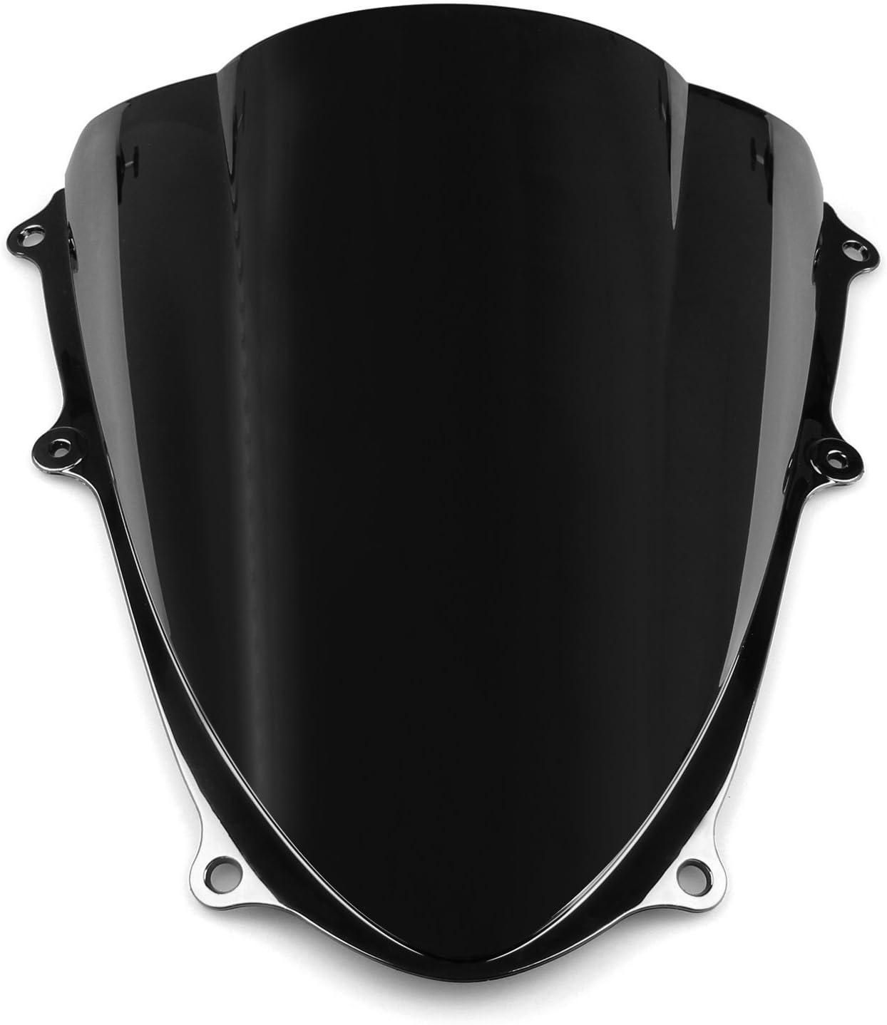 Topteng Motorrad Windschutzscheibe Sport Windschutzscheibe mit ABS Aerodynamik Design f/ür Su-zu-ki GSXR 1000 2009-2016 K9