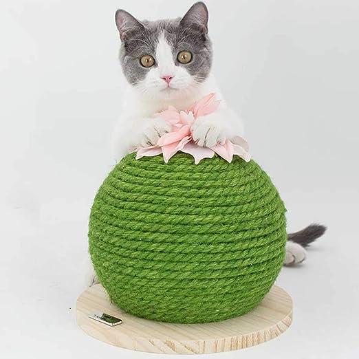 Faderr - Pelota rascadora para Gatos, Forma de Cactus, Juguete ...