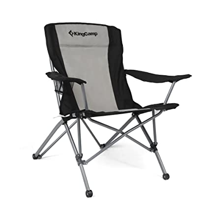 Delightful KingCamp Heavy Duty Folding Arm Chair With Comfotable Tilted Back
