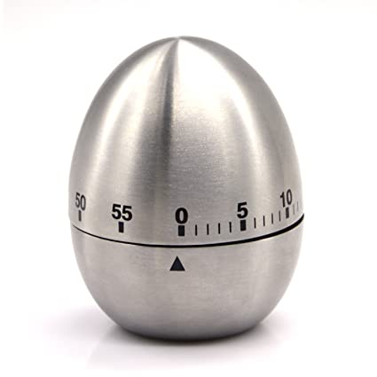 Amazoncom eBerry Stainless Steel Egg Shape Kitchen Timer