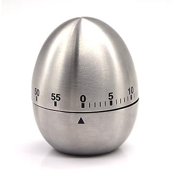 Amazon.com: eBerry® Stainless Steel Egg Shape Kitchen Timer ...