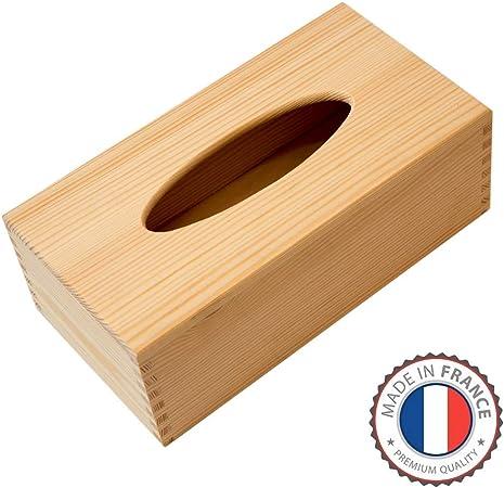 ⭐ Caja de pañuelos y toallitas decorativa en madera de abeto ...