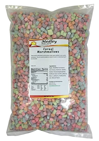 Amazon medley hills farm assorted dehydrated marshmallow bits medley hills farm assorted dehydrated marshmallow bits cereal marshmallows 15 lbs ccuart Images