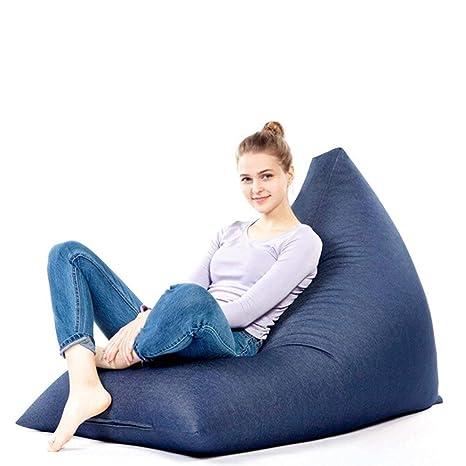 Outstanding Amazon Com Yhouse Large Denim Bean Bag Chair Cover Machost Co Dining Chair Design Ideas Machostcouk