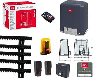 Kit Puerta Corredera con Motor BFT Deimos AC A600 230 V 600 kg r9225 8000002 ml019: Amazon.es: Bricolaje y herramientas