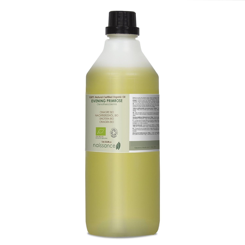 Naissance Onagra BIO - Aceite Vegetal Prensado en Frío 100% Puro - Certificado Ecológico - 1Litro: Amazon.es: Belleza