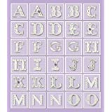 K&Company Purple Dots Alphabet Die-cut Stickers
