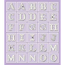 K&Company Purple Dots Alphabet Die-cut Stickers