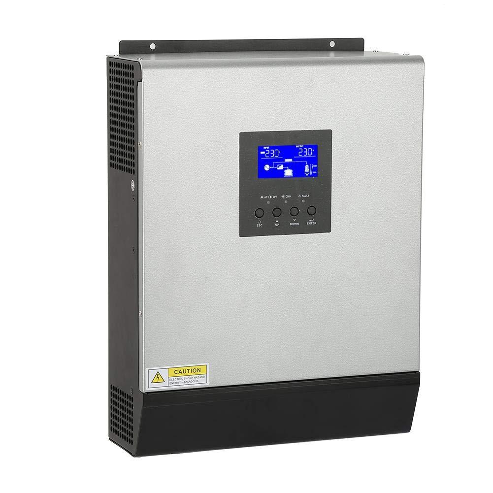 3KVA 2400W Hochfrequenz Multifunktion Wechselrichter Umschalter,Reiner Sinus Wechselrichter Hybrid Inverter mit eingebautem Solarregler 50A 24V ASHATA Hybrid Wechselrichter