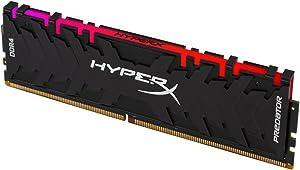 HyperX Predator DDR4 RGB 8GB 2933MHz CL15 DIMM XMP RAM Memory with Infrared Sync Technology Memory - Black (HX429C15PB3A/8)
