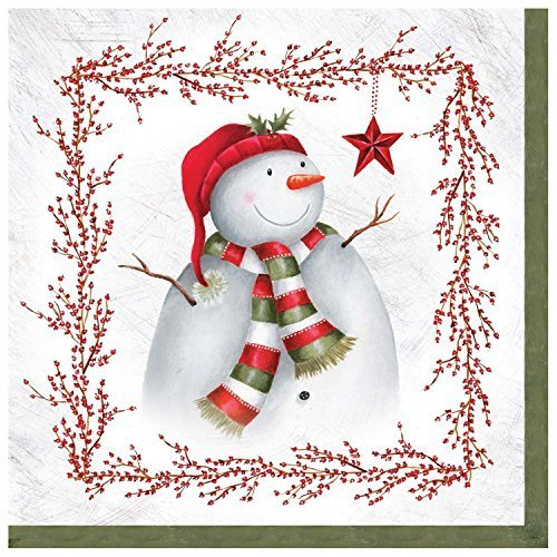 Gibson Snowman (C.R. Gibson 20 Count Winter Berry Snowman Lunch Napkins by C.R. Gibson)