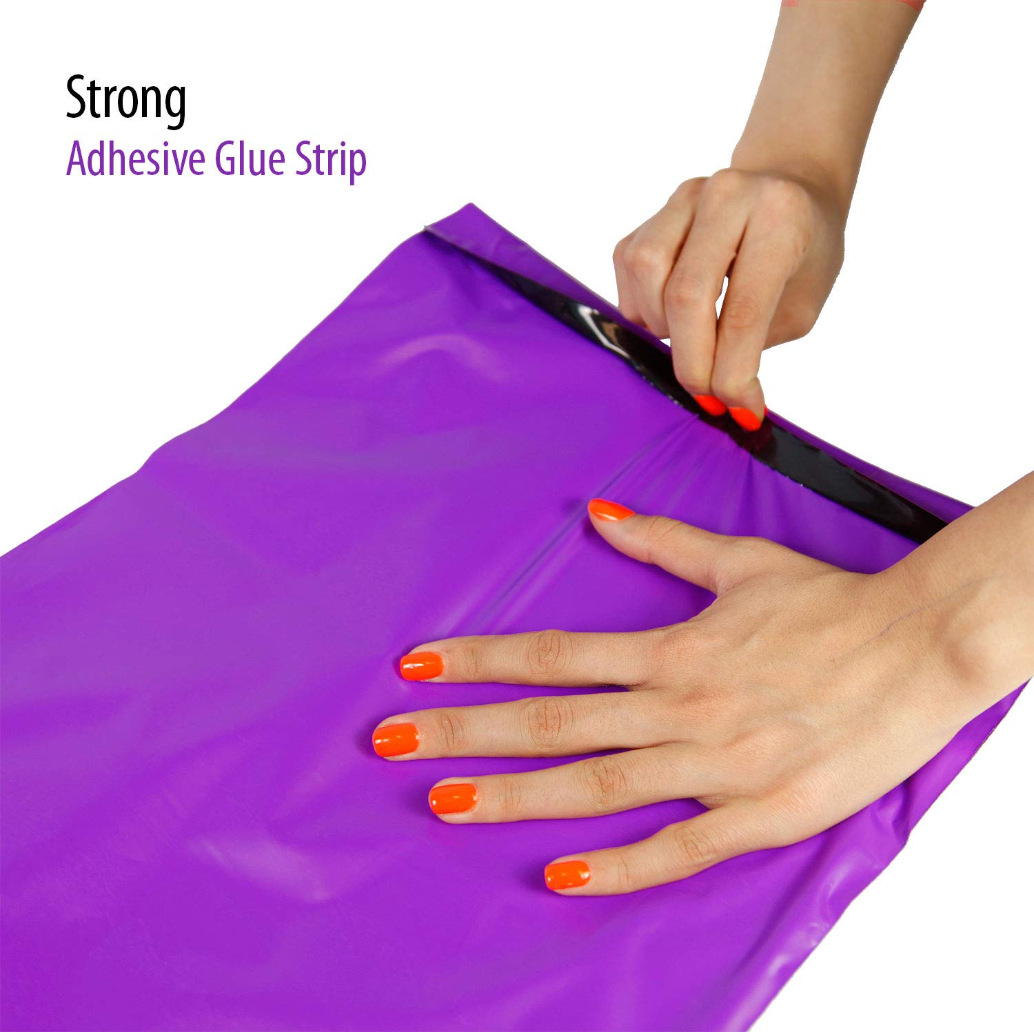 Waterproof and Tear-Proof Postal Bags Total Pack of 200 Mailers MADISHAN 4 x 6 Purple Poly Mailer Envelopes Shipping Bags with Self Adhesive