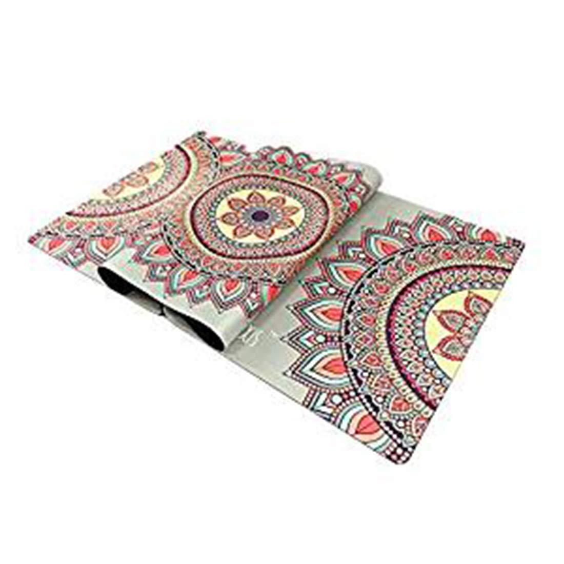 AROTOVL Yogamatte Rubber0.35mm Umweltfreundliche köstliche Fitnessmatte Yogamatte mit Tragen (Farbe   Picture Farbe)