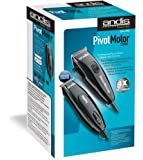Andis Metallic Black Speed Master Clipper + Pivot Pro Trimmer Combo