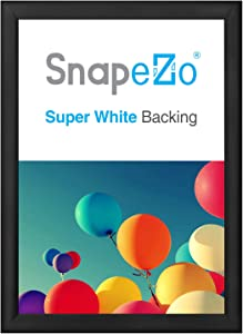 SnapeZo Poster Frame 27x37 Inches, Black 1.2 Inch Aluminum Profile, Front-Loading Snap Frame, Wall Mounting, Premium Series