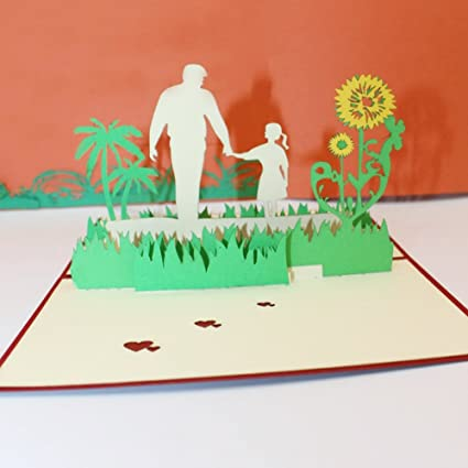Amazon Pop Up Card For Fathers Day 3D Handmade