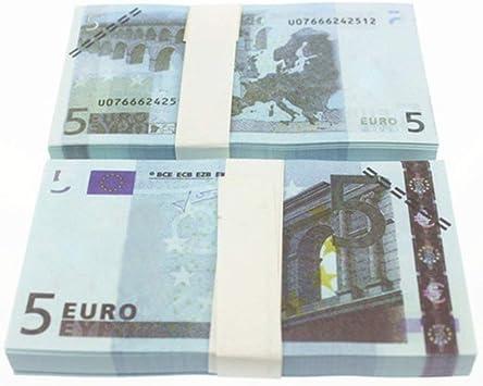 WEIHAN 5 10 20 50 100 200 500 EUR Billetes de Oro en Papel Moneda Falso de Oro de 24K para colección Conjuntos de Billetes de Euro Coloridos: Amazon.es: Juguetes y juegos
