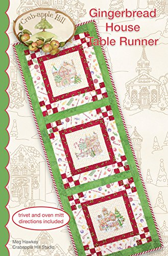 Gingerbread House Table Runner Pattern by Crab Apple Hill