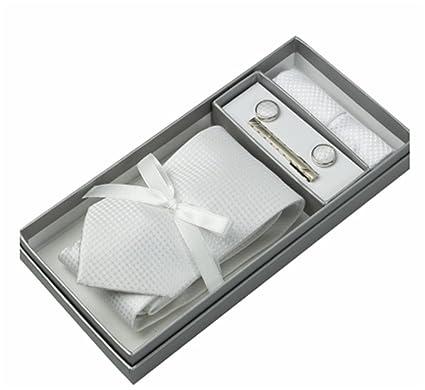 高級ネクタイ 結婚式4点セット(ネクタイ・ネクタイピン・カフス・ポケット