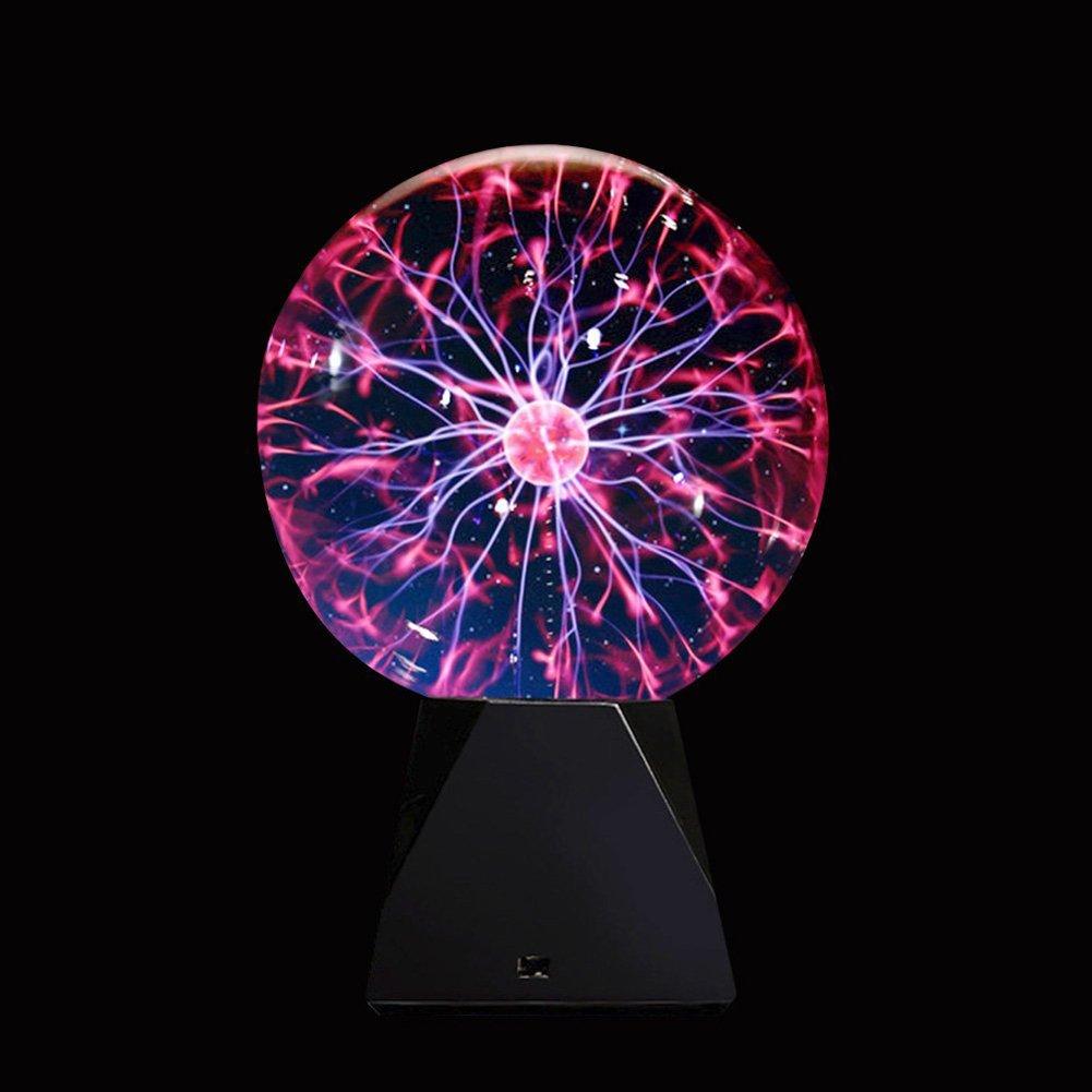 Rumfo Novelty Glass Magic Plasma Ball Light Glass Christmas Balls Decorative Lava Lamp For Kid Novelty Lights Touch Sensor Sphere Night Light (6 Inch)