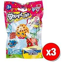 Shopkins Clip On Plush Hanger Figures Mystery Pack (3x Packs)